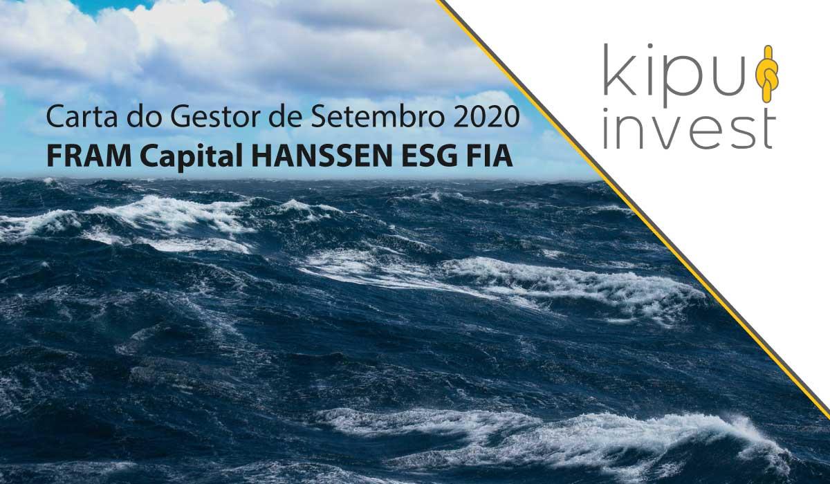 Carta do Gestor de Setembro de 2020 - FRAM Capital HANSSEN ESG FIA